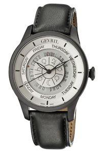 【送料無料】腕時計 ウォッチメンズオートgevril mens 2005 columus circle automatic limited edition leather date watch