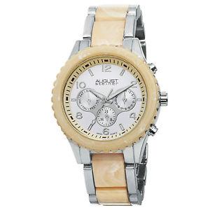 【送料無料】腕時計 ウォッチシュタイナーマルチファンクションシルバートーンアンプブレスレットwomens august steiner as8093ss multifunction silvertone amp; resin bracelet watch