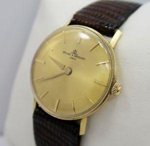 【送料無料】腕時計 ウォッチkイエローゴールドメルシエビンテージメンズマニュアルウォッチbaume amp; mercier ~ 14k yellow gold ~ vintage mens manual wind watch ~ very nice