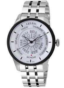 【送料無料】腕時計 ウォッチメンズコロンバスサークルトーンカラースチールgevril mens 2002b columbus circle automatic twotone steel wristwatch