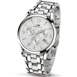 腕時計 ウォッチオロロジィリップウォッチグラフィカルシルバーorologio philip watch cronografo uomo acciaio silver r8273908145