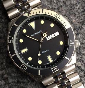 【送料無料】腕時計 ウォッチビンテージブックダイバーvintage 80s bucherer diver heuer 980004 cousin