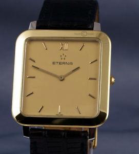 【送料無料】腕時計 ウォッチスクエアドレスeterna square 18ct gold plated ss quartz dress