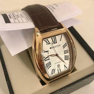 【送料無料】腕時計 ウォッチメンズブラウンクロコダイルレザーウォッチバロンheritor mens automatic hr6004 baron watch * brown crocodile leather *