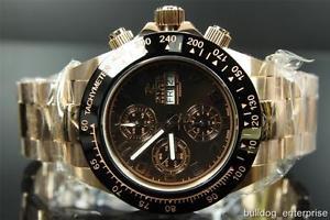 腕時計 ウォッチメンズリザーブスピードウェイローズゴールドスイスカーウォッチmens invicta 10939 reserve speedway rose gold swiss valjoux 7750 auto watch
