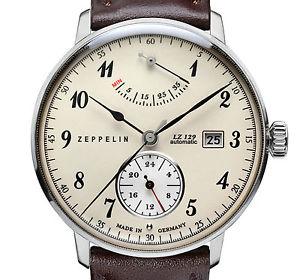 【送料無料】腕時計 ウォッチヒンデンブルクツェッペリンベージュzeppelin 70604 hindenburg lz129 beige stahl 40 mm automatik gangres datum neu