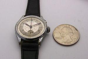 【送料無料】腕時計 ウォッチビンテージハーマンボタンクロノグラフオリジナルvintage unusually small 28mm harman one button chronograph original and running