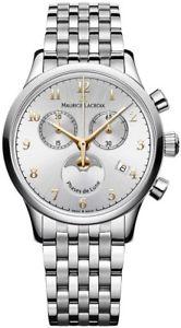 【送料無料】腕時計 ウォッチモーリスロアレクロノグラフフェーズmaurice lacroix les classiques chronograph phase de lune lc1087ss0021211 neu