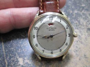 【送料無料】腕時計 ウォッチビンテージインジケータvintage lecoultre automatic power indicator gold filled wrist watch
