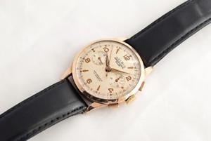 【送料無料】腕時計 ウォッチビンテージゴールドクロノグラフウォッチvintage delrio 18ct gold chronograph watch landeron 51 movement c1950s