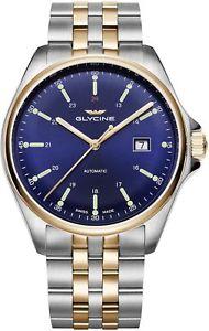 【送料無料】腕時計 ウォッチグリシンローズゴールドブルリファレンスorologio glycine combat 6 automatic watch 43mm ip rose gold blu ref 3890383mb