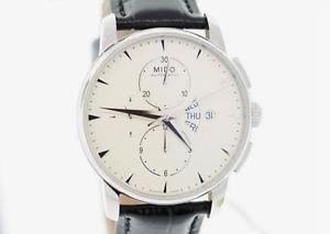 【送料無料】腕時計 ウォッチメンズミドオートマチックブラックレザーストラップウォッチ