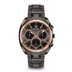 【送料無料】腕時計 ウォッチメンズクロノグラフbulova 98a158 mens curv chronograph watch
