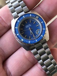 【送料無料】腕時計 ウォッチヴィンテージサブシーフルスチールvintage watch orologio zenith sub sea automatic full steel minisub