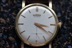 【送料無料】腕時計 ウォッチローマーブランドゴールドroamer herrenuhr 585 gold, rar und selten
