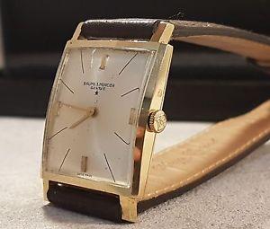 【送料無料】腕時計 ウォッチメルシエレディbaume amp; mercier elipse dame or jaune 18k mcanique vers 1970