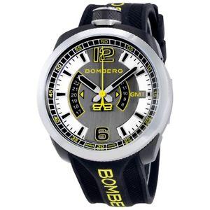 【送料無料】腕時計 ウォッチメンズスイスラバーストラップボルト mens bomberg bs45gmtsp0273 swiss made bolt68 gmt rubber strap watch