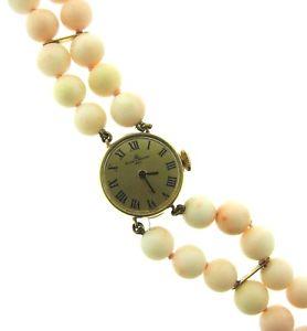 【送料無料】腕時計 ウォッチシックkイエローゴールドメルシエエンジェルスキンコーラルウォッチchic baume amp; mercier 14k yellow gold amp; angel skin coral watch circa 1950s