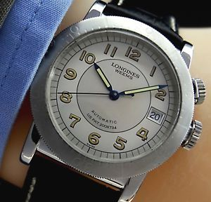 【送料無料】腕時計 ウォッチナビゲーションスチールneues angebotseltene longines weems us military 2008734 navigation autom herren uhr in stahl