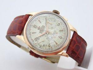 【送料無料】腕時計 ウォッチウォーカーグラフィカルロサマニュアルwalker cronografo oro rosa 18 kt anni 50 manuale 37 mm landeron 48 revisionato