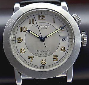 腕時計 ウォッチナビゲーションスチールneues angebotseltene longines weems us military 2008734 navigation autom herren uhr in stahl