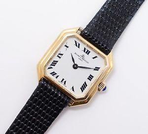【送料無料】腕時計 ウォッチヴィンテージメルシエkゴールドストラップレディスウオッチメーカーサファイアクラウンvintage baume amp; mercier 38259 18k gold strap ladies wristwatch sapphire crown
