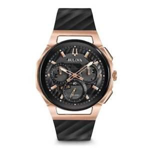 腕時計 ウォッチメンズクロノグラフbulova 98a185 mens curv chronograph watch