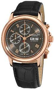 【送料無料】腕時計 ウォッチプレステージメンズスイスローズトーンウォッチstuhrling prestige mens 362 334554 swiss automatic valjoux 7750 rosetone watch