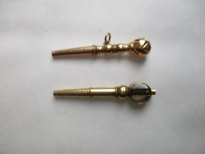 【送料無料】腕時計 ウォッチロットノートルダムデュキャップklot 2 clefs de montres a gousset anciennes or 18k
