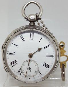 【送料無料】腕時計 ウォッチアンティークソリッドシルバーポケットウォッチ