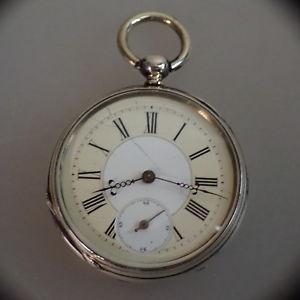 【送料無料】腕時計 ウォッチオープンポケットキーエレベーターシルバーene herrentaschenuhr schlsselaufzug silber um 1890 48550