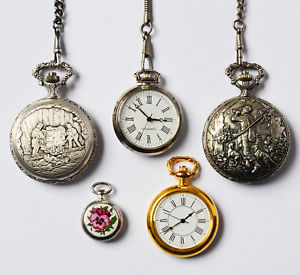 【送料無料】腕時計 ウォッチロットコレクションポケットウオッチkonvolut lot sammlung 5 taschenuhren alle nach 1970 zt defekt royal holtzmann