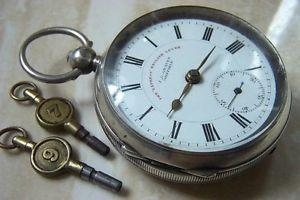 【送料無料】腕時計 ウォッチシルバーエクスプレスイングリッシュレバーポケットウォッチ