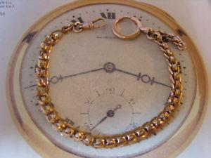 【送料無料】腕時計 ウォッチポケットチェーンアンティークビクトリアゴールドファンシーアルバートローズウォッチ