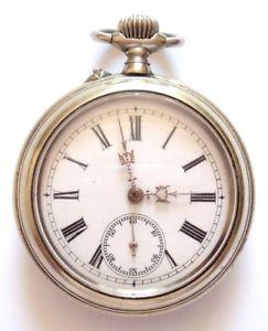 【送料無料】腕時計 ウォッチフランスノートルダムデュリレーvers 1910 france rgulateur montre de poche gousset fonctionne bien, railway