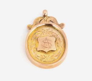 腕時計 ウォッチアンティークローズゴールドメダルビリヤードフォブantique 9ct rose gold billiards fob medal