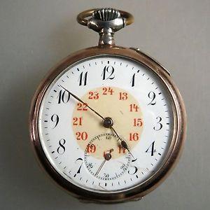【送料無料】腕時計 ウォッチオープンポケットシルバーzuverlssige ene herrentaschenuhren silber um 1910 42937