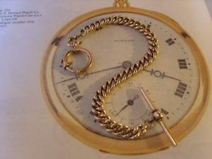 【送料無料】腕時計 ウォッチポケットチェーンアンティークビクトリアンローズゴールドリンクアルバートウォッチ