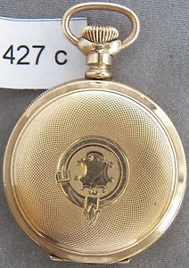 【送料無料】腕時計 ウォッチニースアンティークハンプデンレディースゴールドハンティングケースポケットウォッチ