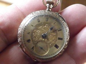 腕時計 ウォッチアンティークソリッドゴールドポケットウォッチ