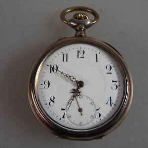 【送料無料】腕時計 ウォッチポケットエミールオープンウォッチシルバーene herrentaschenuhr carpo emile juillard silber 1908 49372