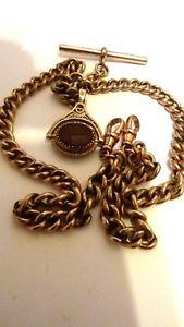 【送料無料】腕時計 ウォッチビクトリアゴールドアルバートダブルリンクチェーンフォブアンプ9 ct victorian gold albert double link chainamp; fob