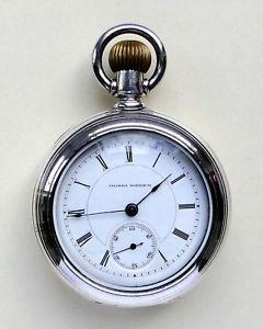 【送料無料】腕時計 ウォッチイリノイオンスシルバーハウジングアメリカポケットウォッチ