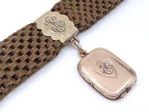 【送料無料】腕時計 ウォッチプラークancienne chatelaine chaine de montre plaqu or et cheveux tresss xixeme