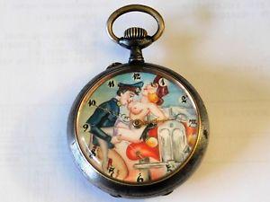 【送料無料】腕時計 ウォッチノートルダムウォッチデュキヤノンライフルmontre gousset rotique uhr erotik watch erotic acier canon de fusil moeri