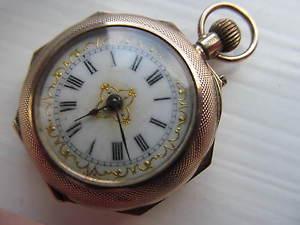 【送料無料】腕時計 ウォッチアンティークアールヌーボーレディースエナメルantique art nouveau ladies enamel 9ct gold watch