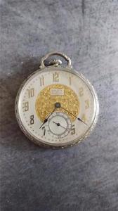 【送料無料】腕時計 ウォッチヴィンテージサイズグリーンギルドポケットシングレードウォッチ