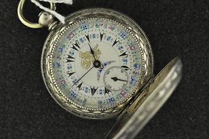 【送料無料】腕時計 ウォッチヴィンテージトルコシルバーキーキーセットポケットウォッチ