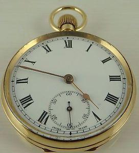 腕時計 ウォッチビンテージソリッドゴールドポケットウォッチ