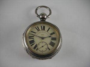 【送料無料】腕時計 ウォッチポケットウォッチスターリングシルバーケースオンス
